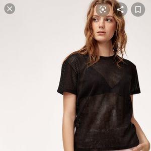 Aritzia Wilfred Free Jamilla Mesh T Shirt